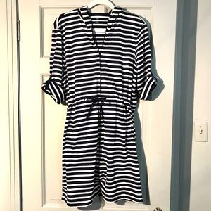 Lands End hooded full zip swimsuit cover up